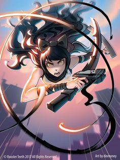 Monday Blake: Attack from above (dinmoney) - RWBY Rwby Anime, Rwby Fanart, Rwby Blake, Red Like Roses, New Flame, Rwby Volume, Rwby Characters, Rwby Comic, Rwby Ships
