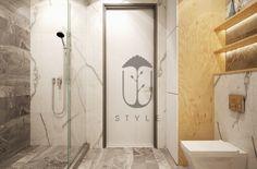 Ванная комната с современной инсталляцией, благодаря которой выполнена установка унитаза консольно.