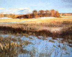 Peter Fiore Meadow, Late Day December oil/linen, 48x60