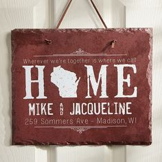 State of Love Personalized Plaque