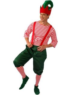 Elf Costume for Men - Christmas u0026 other Mens from Birthday in a Box  sc 1 st  Pinterest & Christmas tree hats - I love making the kids look like big dorks on ...