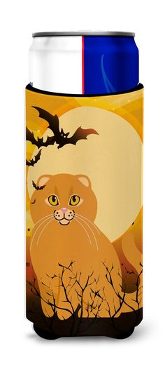 Halloween Scottish Fold Cat Michelob Ultra Hugger for slim cans BB4453MUK