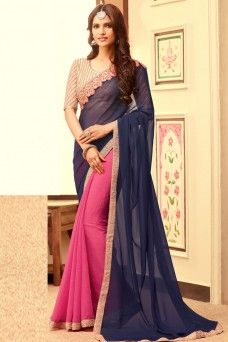 http://www.gebastore.com/sarees/collections/tfh-sandal-wood/attractive-navy-blue-and-pink-latest-fashion-embroidered-party-wear-stylish-saree-tfh-sandal-wood-109.html  #bluesaree #pinksaree #halfhalfsaree #georgettesaree #fancysaree #fashion #style #indianwomenfashion #bridesoutfits #casualwear #partywear #weddingwear #traditionalsaree #sarees #sari  #modelsaree #indian #shadiseason #formal #casualcollection #UK #USA #Kenya