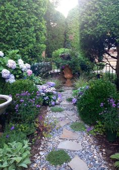 Garden path with pavers and gravel