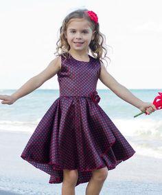 Purple & Red Audrey Twirl Dress - Toddler & Girls