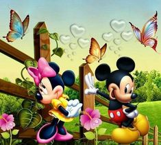 Mickey and Minnie Mouse Mickey Mouse Characters, Walt Disney Characters, Mickey Mouse Art, Mickey Mouse Wallpaper, Vintage Mickey Mouse, Mickey Mouse And Friends, Minnie Mouse Pictures, Disney Pictures, Looney Tunes Wallpaper