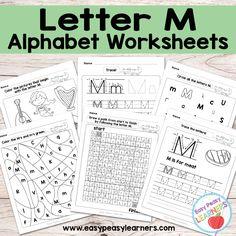Alphabet Worksheets - Letter M