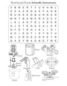 Word Search Puzzle Scientific Instrments | Download Free Word Search ...
