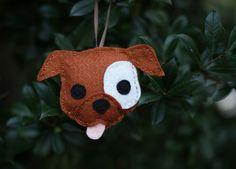 Felt Pitbull Ornament - Brown by Suzannah Ashley, via Flickr