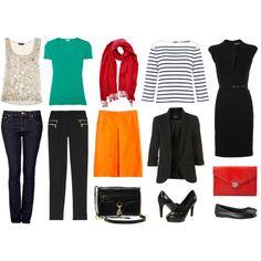 Travel Wardrobe, created by wardrobeoxygen on Polyvore