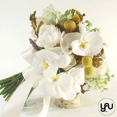 Buchet mireasa bujori orhidee mathiolla _ BM215 – YaU concept Gypsophila, Gerbera, Wedding Bouquets, Floral Design, Concept, Vase, Rustic, Table Decorations, Contemporary
