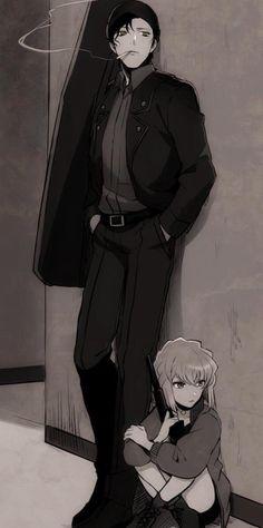 Akai-kun is doing his best to protect Ai-chan ✨ Detective Conan Magic Kaito, Detective, Amuro Tooru, Kaito Kid, Detektif Conan, Kudo Shinichi, Case Closed, Manga Pictures, Cartoon Wallpaper