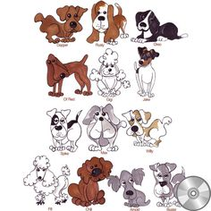 Doggie Delight 1 Machine Embroidery Design Collection | Compact Disc