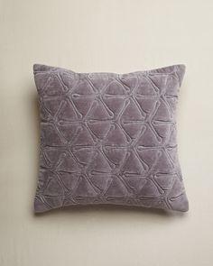 Design Trends 2013: Velvet - ELLE DECOR - Cotton Velvet Geo Cushion - Nitin Goyal