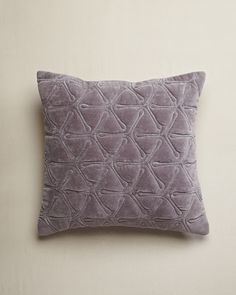 Design Trends 2013: Velvet - ELLE DECOR - Cotton Velvet Geo Cushion - Nitin Goyal