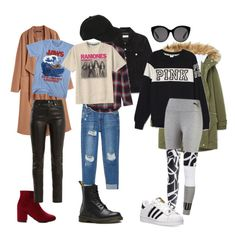 """""""Spy outfits"""" by bjdanddd on Polyvore featuring Yves Saint Laurent, MANGO, Dr. Martens, Madewell, Hot Topic, Victoria's Secret, adidas and Gucci"""
