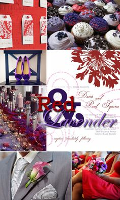 Lavender and Red
