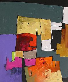 Original Abstract Painting Modern Expressionist by lindamonfort