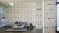 Werner Aisslinger Tapete 955782; simuliert auf der Wand