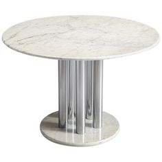 Center Table - Postmodern Italian Centre European Modern Metal, Marble Dining table, marble, metal Italy, This center table is a skillful example of Postmodern des Granite Dining Table, Circular Dining Table, Modern Dining Room Tables, Metal Dining Table, Pedestal Dining Table, Foyer Furniture, Aluminum Table, Center Table, 1970s