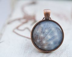 Wearable Art Photo Art jewelry Dandelion pendant for children and adults . Vintage white gift on Etsy, $15.00