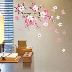Cherry Sakura Flower Tree Removable Vinyl Decal Wall Sticker DIY Art Home Decor