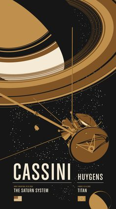 Cassini - Historic Robotic Spacecraft Poster Series by Chop Shop