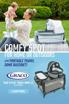 Graco's Pack 'n Play®Travel Dome™ LX Playard creates a comfortable spot for use at home or outdoors, with a portable Travel Dome Bassinet. Visit the website to learn more! Baby Number 2, Pack N Play, Baby Mine, Baby Safety, Homemade Baby, Baby Needs, Baby Essentials, Cool Baby Stuff, Baby Gear