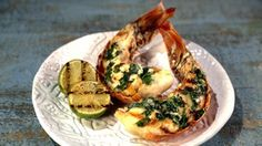 Grilled Lobster Tails with Lime Basil Butter Recipe | The Chew - ABC.com
