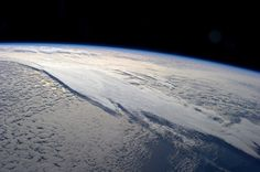 Cloud layers.  Taken July 18, 2013 from the International Space Station. #theBeautyofEarth