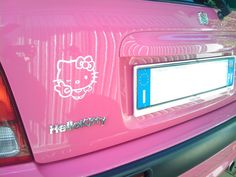 hello kitty pink car for my girl Shivanii My Dream Car, Dream Cars, Cute Car Decals, Hello Kitty Car, Hello Hello, Pink Cadillac, Honda S, Jeep Accessories, Pink Blossom
