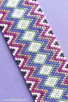 Beaded Bracelet Pattern Zig Zag Jazz Odd Count Peyote