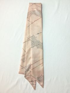 【Ribbon Scarf light pink with navy design | #MegumiProject】#Upcycled #RestoringBeauty #Scarf #アップサイクル #めぐみプロジェクト #東北