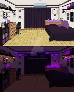 Dorm Layout, Dorm Room Layouts, Dorm Rooms, Hero Academia Characters, My Hero Academia Manga, Anime Oc, Kawaii Anime, Light Vs Dark, Casa Anime