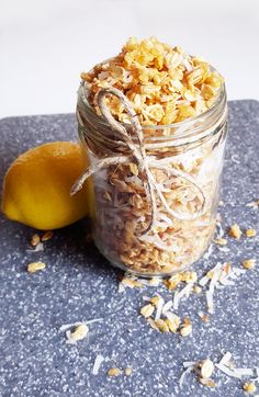 Start your morning deliciously with this lemon coconut granola! Eaten with milk, yogurt, or on its own, it is a wonderful addition to breakfast.