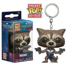Funko Keychain Rocket, Chaveiro, Guardians of the Galaxy, Guardiões da Galáxia, Marvel, Funkomania, Quadrinhos