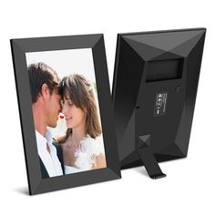 IPS LCD Panel Frameo App Akimart 10 Inch WiFi Digital Photo Frame with Touch Screen Send Photos or Videos from Anywhere iOS and Android Diamond Style Auto-Rotate,Built in 16GB Memory