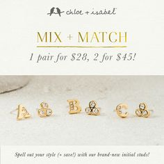 Are these cute or what? They go with almost any outfit without being boring in the least. www.chloeandisabel.com/boutique/emilywright