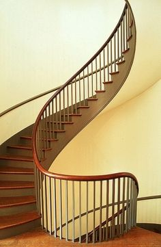 Staircase in Shaker Village, Pleasant Hill, KY.
