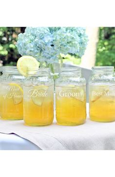 Cathy's Concepts 'Wedding Party' Mason Jars (Set of 4) available at #Nordstrom