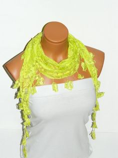 Personalized Design pistachio green Scarf by WomanStyleStore, $14.00