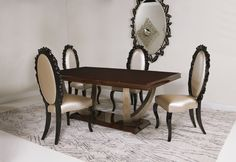 The new Promenade dining table with Oscar dining chairs.