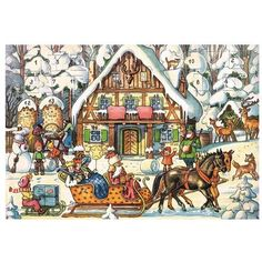 Korsch Santa with 3 Kings Advent Calendar -- Details can be found by clicking on the image.