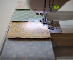 How to piece together quilting squares.