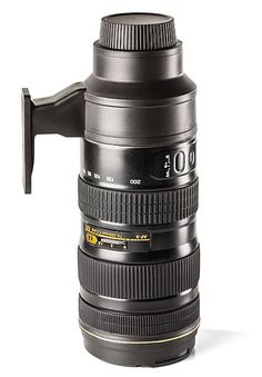 ThinkGeek :: Camera Lens Stainless Steel Travel Mug