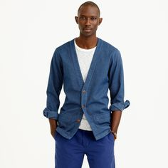 Lightweight cotton cardigan : workshirts | J.Crew