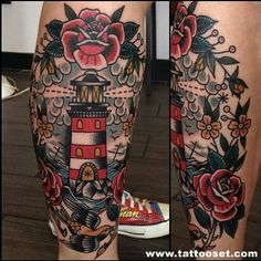 Traditional calf tattoo