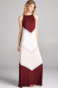 $52 Color Block Maxi   Link --> http://www.blu-ivoryboutique.net/collections/new-arrivals/products/color-block-maxi?variant=20978665537