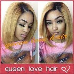 Two tone ombre lace wig brazilian virgin hair lace front ombre bob wig/full lace human hair bob wigs for black women free