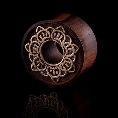 SOLAR ORGANIC  Brass ear tunnel,plug,brass tunnel,tribalik tunnel,gauge jewelry,eyelets, (code 16)